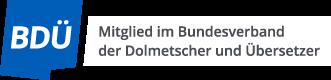 Logo Bundesverband der Dolmetscher und Übersetzer (BDÜ)